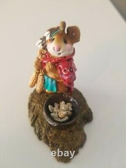 Wee Forest Folk Retired Chief Mouse-Asoit M- 197, Free Shipping, Signed AP