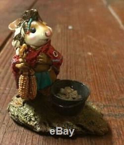 Wee Forest Folk Retired Chief Mouse-Asoit Mint With WFF Box