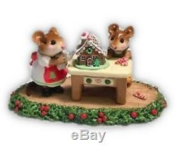 Wee Forest Folk Retired Christmas Home Sweet Home Holly Base
