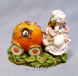 Wee Forest Folk Retired Cinderella Fairy Godmother Transforming Pumpkin Coach