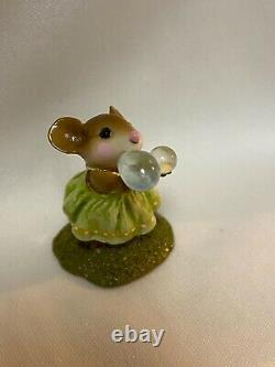 Wee Forest Folk Retired Green /Yellow Poppy's Bubbles
