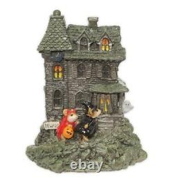 Wee Forest Folk Retired Haunted House Grey