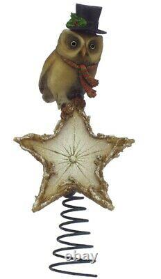 Wee Forest Folk Retired Hooting Star Owl Tree Topper New