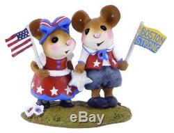 Wee Forest Folk Retired LTD Boston Strong Charity WFF with USA Flag