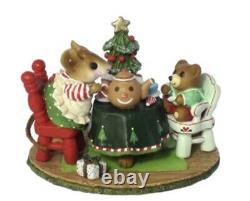 Wee Forest Folk Retired LTD Christmas Tea for Three