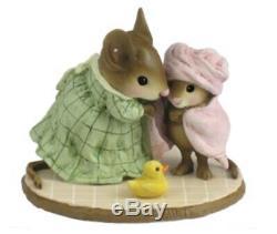 Wee Forest Folk Retired LTD Little Girl Bundle of Joy with Rubber Ducky