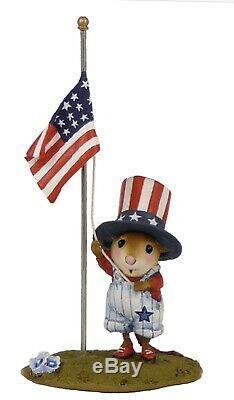 Wee Forest Folk Retired LTD Raising the Flag USA