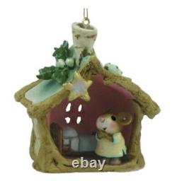 Wee Forest Folk Retired Little Christmas House Yellow Dress Ornament