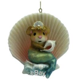 Wee Forest Folk Retired Merry Mermouse Ornament