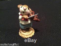 Wee Forest Folk Retired Mouse Violinist Blue Pants