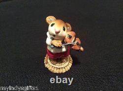 Wee Forest Folk Retired Mouse Violinist Red Pants