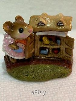 Wee Forest Folk Retired Mouseys Dollhouse with Raggedy Ann