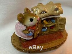Wee Forest Folk Retired Mouseys Dollhouse with Raggedy Ann Rug Base