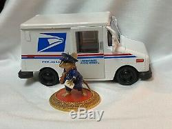 Wee Forest Folk Retired Postes Postman with His Postal Truck