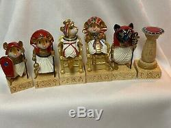 Wee Forest Folk Retired Red King and Queen Set 6 WFF Mint Never Displayed