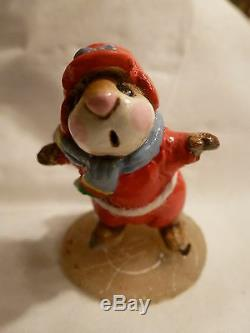 Wee Forest Folk Retired Red Skater Mouse Ms-08