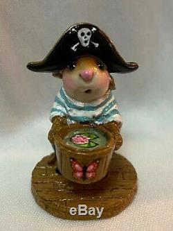 Wee Forest Folk Retired Special Color Custom Pirate Smee with Waterlily Butterfly