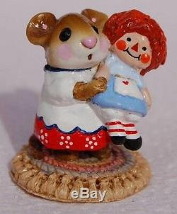 Wee Forest Folk Retired Special Color Dreams in the Attic Me & Raggedy Ann