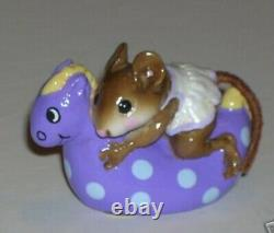 Wee Forest Folk Retired Special Color Lenas Purple Spotted Sea Horse