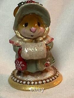 Wee Forest Folk Retired Special Color Miss Noel with Cabin