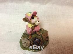 Wee Forest Folk Retired Special Color Pink Yellow Girl Mallowing Out