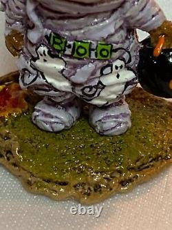 Wee Forest Folk Retired Special Color The Mummy with Ghosts and Black Pumpkin