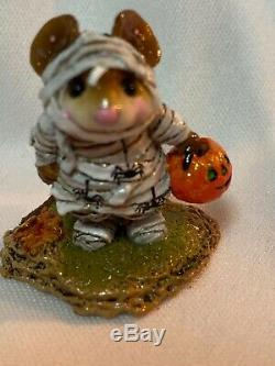 Wee Forest Folk Retired Special Color The Mummy with Spiders