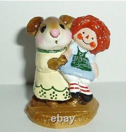 Wee Forest Folk Retired Special Color Tottingham Court Me & Raggedy Ann