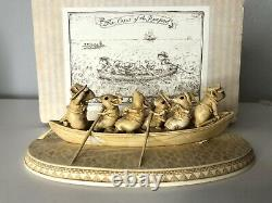 Wee Forest Folk S-13 Sea WHALE BOAT Scrimshaw Ship Crew of the Peapod RETIRED