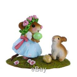 Wee Forest Folk SOME BUNNY TO LOVE, WFF# M-448a, Retired LTD 2013 Easter Mouse