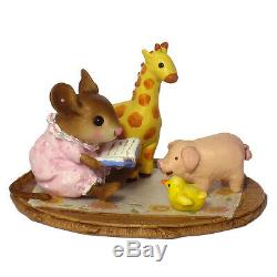Wee Forest Folk STORY TIME, WFF# M-353, Retired Pajama Kids Series, Mouse