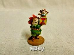 Wee Forest Folk Santa's Elf Mouse Christmas Special M-550 Retired Mouse Toys