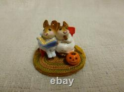 Wee Forest Folk Scary Stories Halloween Edition m-225 Retired White Light Blue