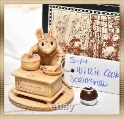 Wee Forest Folk Sea S-14 Retired Scrimshaw Willie Cook Sailor Mouse 1998