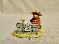 Wee Forest Folk Shelley Special Edition Orange M-235 Retired Mouse Sea Shells