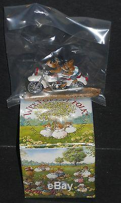Wee Forest Folk Sparkey And Son Motorcycle Mice M-314b Retired