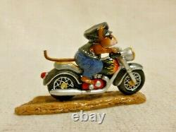 Wee Forest Folk Sparkey Special Edition Flames M-314 Retired Motorcycle Bike