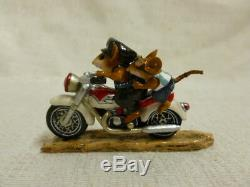 Wee Forest Folk Sparky and Son Special Edtion M-314b Mouse Motorcycle Retired