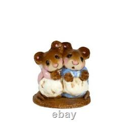 Wee Forest Folk Special Mini Two Mice With Candle Annettes Birthday Retired Mini