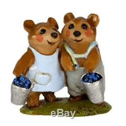 Wee Forest Folk Special Retired Mini Blueberry Bears