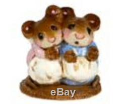 Wee Forest Folk Special Retired Mini Two Mice with Candle