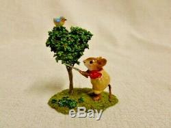 Wee Forest Folk Spruce Up Special Edition M-397 Retired Mouse Figurine
