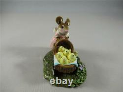 Wee Forest Folk Strolling with My Chickies Retired Easter Mouse New in Box