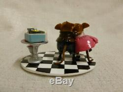 Wee Forest Folk Sweetheart Spin Limited Valentines Edition M-460a Mouse Retired