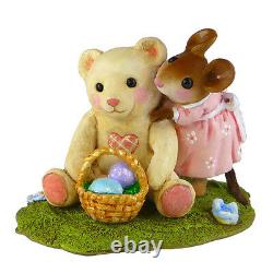 Wee Forest Folk TEDDY'S EASTER HUG, WFF# M-522 Retired Mouse