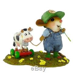 Wee Forest Folk TIMOTHY & BELLE, M-445, Retired 2017 Farmer Mouse