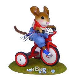 Wee Forest Folk TINY TRIKE, WFF# M-526, RWB Boy Mouse Retired