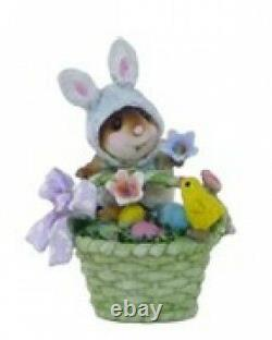 Wee Forest Folk TM-5 Wee Bunny's Basket (RETIRED)