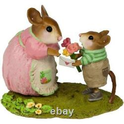 Wee Forest Folk TO MOM, WITH LOVE! , WFF# M-636b Retired Boy Mother's Day Mouse