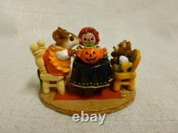 Wee Forest Folk Tea For Three Limited Halloween Edition M-177 Mouse Retired